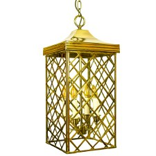 Ivy Hanging Lantern Large Polished Brass Unlacquered