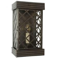 Ivy Flush Outdoor Wall Lantern Small Antique Brass