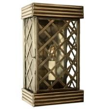 Ivy Flush Outdoor Wall Lantern Small - Light Antique Brass