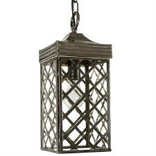 Ivy Hanging Lantern Small Antique Brass