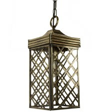 Ivy Hanging Lantern Small - Light Antique Brass