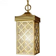 Ivy Hanging Lantern Small Polished Brass Unlacquered