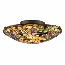 Quoizel Kami Tiffany Flush Light Vintage Bronze