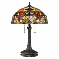 Quoizel Kami Tiffany Table Lamp Vintage Bronze