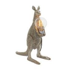 Kangaroo Table Lamp Vintage Silver