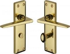 Heritage Kendal Bathroom Door Handles KEN6830 Polished Brass Lacquered