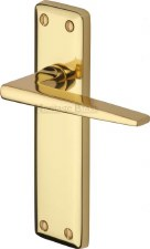 Heritage Kendal Latch Door Handles KEN6810 Polished Brass Lacquered