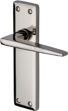 Heritage Kendal Latch Door Handles KEN6810 Polished Nickel