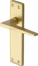 Heritage Kendal Latch Door Handles KEN6810 Satin Brass Lacquered