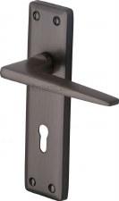 Heritage Kendal Door Lock Handles KEN6800 Matt Bronze
