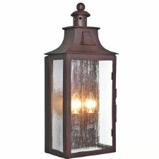 Elstead Kendal Flush Outdoor Wall Light Lantern