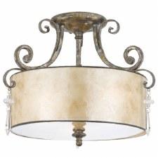 Quoizel Kendra Semi Flush Ceiling Light