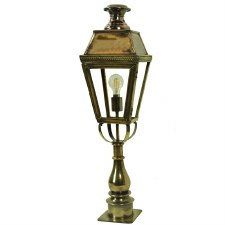Kensington Tall Pillar Lamp Light Antique Brass
