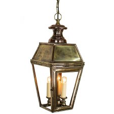 Kensington Pendant Lantern with 3 Light Cluster Light Antique Brass