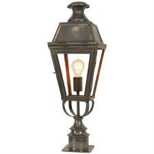 Kensington Short Pillar Lamp Antique Brass