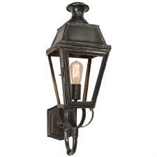 Kensington Outdoor Wall Lantern Antique Brass