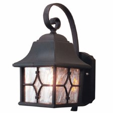 Elstead Kent Outdoor Wall Light Lantern Black