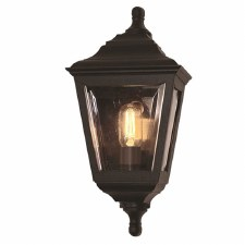 Elstead Kerry Flush Outdoor Wall Light Lantern Black