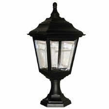 Elstead Kerry Pedestal Lantern Light Black