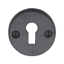 Heritage Escutcheon FB553 Black Iron Rustic