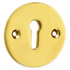 Croft Circular Escutcheon 4571 Polished Brass Unlacquered