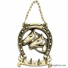 Horsehead Keyrack Polished Brass