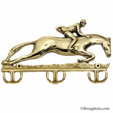 Jumping Horse Keyrack Polished Brass