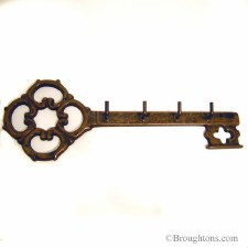 Key Shaped Keyrack Antique Brass