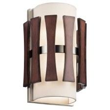 Kichler Cirus Wall Light Auburn Stained Wood