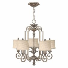 Hinkley Kingsley 5 Light Chandelier Silver Leaf