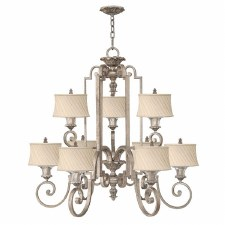 Hinkley Kingsley 9 Light Chandelier Silver Leaf