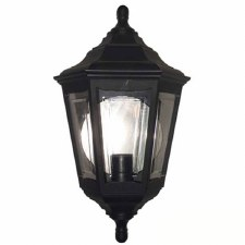 Elstead Kinsale Flush Outdoor Wall Light Lantern Black