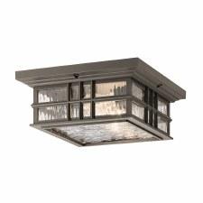 Kichler Beacon Square Flush Ceiling Light Old Bronze