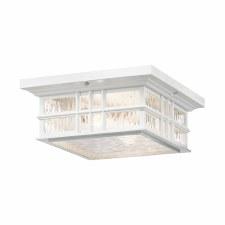 Kichler Beacon Square Flush Ceiling Light White