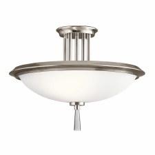 Elstead Dreyfus Semi Flush Light Pewter