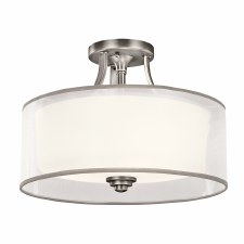 Kichler Lacey 3 Light Semi-Flush Ceiling Light Antique Pewter