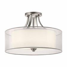 Kichler Lacey 4 Light Semi-Flush Ceiling Light Antique Pewter