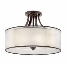 Kichler Lacey 4 Light Semi-Flush Ceiling Light Old Bronze