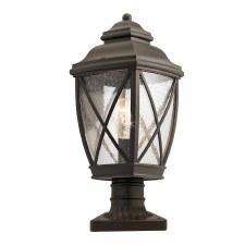 Elstead Tangier Pedestal Lantern Olde Bronze
