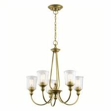 Kichler Waverly 5 Light Chandelier Natural Brass