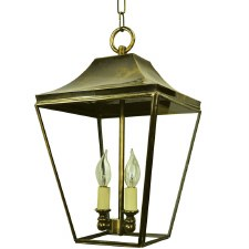 Knightsbridge Hanging Pendant Lantern with 3 Cluster Lights, Light Antique