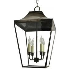 Knightsbridge Hanging Pendant Large Lantern Antique Brass
