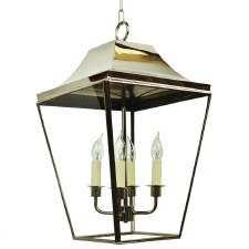 Knightsbridge Hanging Pendant Large Lantern Polished Nickel
