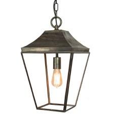 Knightsbridge Hanging Pendant Medium Lantern Antique Brass