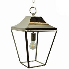 Knightsbridge Hanging Pendant Medium Lantern Polished Nickel