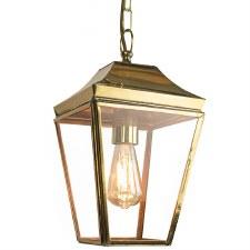 Knightsbridge Hanging Pendant Small Lantern Polished Brass