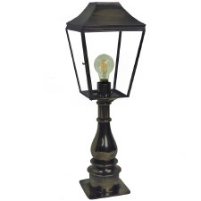 Knightsbridge Outdoor Pillar Lamp Tall Antique