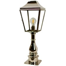 Knightsbridge Outdoor Pillar Lamp Tall Polished Nickel