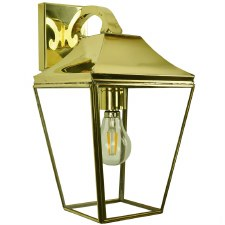 Knightsbridge Outdoor Overhead Wall Lantern Polished Brass