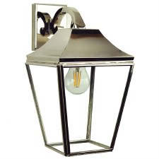 Knightsbridge Outdoor Overhead Wall Lantern Polished Nickel